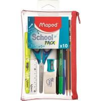 MAPED - School Pack Trousse transparente 10 pcs