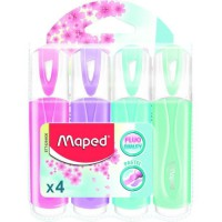 MAPED 4 Surligneurs Pastels Assortis