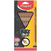MAPED Blister 10 Crayons graphites Black'peps - HB