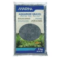 MARINA Gravier Deco noir - 2 kg - Pour aquarium