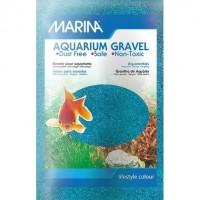 MARINA Sable microbille - 1 kg - Bleu - Pour aquarium