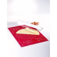 MASTRAD Feuille a pâtisserie graduée F45210 - 40 x 60 cm - Rouge