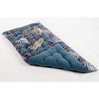 Matelas de sol souple 100% coton imprimé JUNGLE 120x60x5cm - Bleu