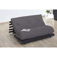 Matelas futon 140 x 200 - Confort ferme et Equilibré - Epaisseur 15 cm - Taupe