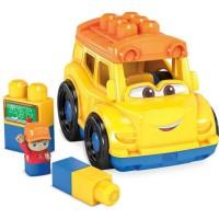 MEGA BLOKS - Lil'Véhicule Bus Scolaire - Briques de construction - Bus Scolaire avec figurine & 5 blocs Inclut - 12 mois et +