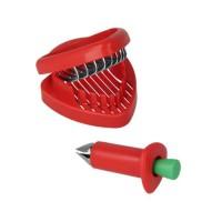 METALTEX Equeuteur et trancheur a fraises en plastique - 2 en 1 - 9,5 x 4 cm / 8 x 9 x 3 cm