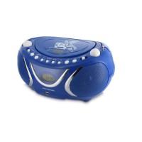 METRONIC 477132 Radio cd mp3 square - Bleu