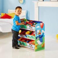 MICKEY ET SES AMIS - Meuble de rangement pour chambre d'enfant avec 6 bacs