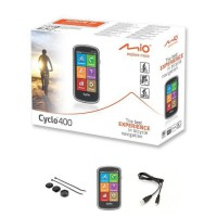 "MIO GPS vélo 400 WEU - Processeur ARM Cortex-A7 - GPS Chipset U-blox 7 - Écran tactile 4"" - 360 x 600 - 73,7 x 129,4 x 22 mm"