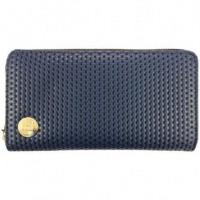 MIPAC Porte feuille zippe série gold Perf Bleu