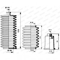 MOOG Kit soufflets de direction K150009