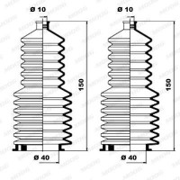 MOOG Kit soufflets de direction K150030
