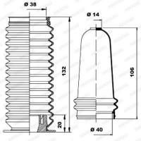 MOOG Kit soufflets de direction K150059