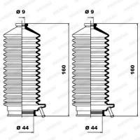 MOOG Kit soufflets de direction K150103