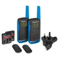MOTOROLA Talkie Walkie Radios T62 PMR446 - Sans licence - Couplage simplifié - Bleu