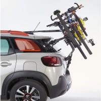 MOTTEZ Porte-vélos sur Hayon a Fixation sur Barres de toit ou barre Railing 3 vélos avec antivol