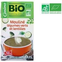 Mouliné légumes verts et lentilles bio - 1 L