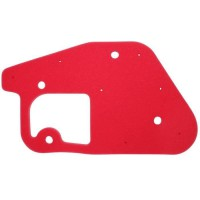 mousse filtre a air scoot adaptable mbk 50 booster, stunt/yamaha 50 bws, slider (rouge) -artein-