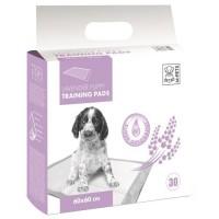 M-PETS Tapis d'apprentissage Lavender - 30 pieces - 60x60cm - Pour chiot