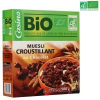 Muesli croustillant au chocolat BIO 500 g