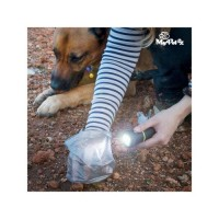 MY PET Lampe torche Poop Lantern avec porte-sac ramasse crottes