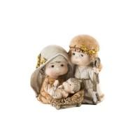 Naissance de Noël en résine - 13 x 9,5 x 12 cm