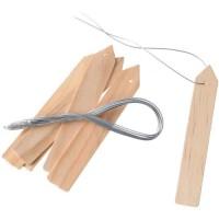 NATURE Etiquettes en bois (teinte naturel) a suspendre