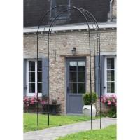 NATURE Pergola arche en acier galvanisé 113x38xH229cm - Noir