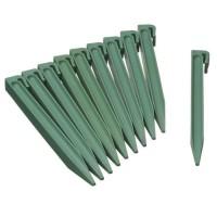 NATURE Sachet de 10 ancres pour bordure de jardin en polypropylene - H 26,7 x 1,9 x 1,8 cm - Vert