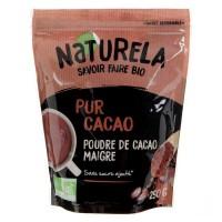 Naturela -250g- Pur Cacao Maigre 10 - 12% MG Sans Sucre Bio