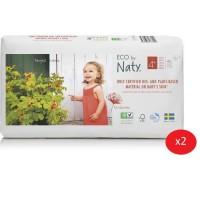 NATY - Lot de 2 paquets de couches Taille 4+ Maxi+ 9-20 kg 42 pcs