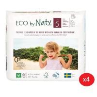 NATY - Lot de 4 paquets de Culottes d'apprentissage Taille 5 Junior 12-18 kg 20 pcs