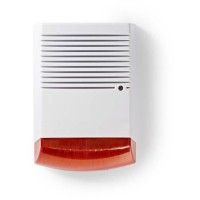 NEDIS Sirene de sécurité factice - IP44 - Blanc et Orange