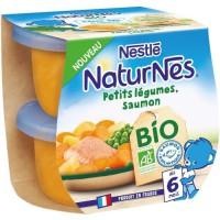 NESTLE Naturnes BIO Petits légumes saumon 2x190g