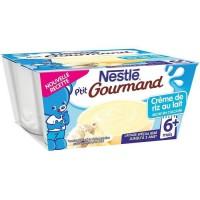 NESTLÉ P'tit Gourmand Creme de riz au lait - 4x100 g - Des 6 mois
