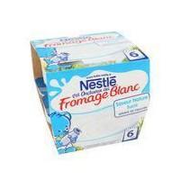 NESTLÉ P'tit Onctueux Fromage Blanc Nature - 8x100 g - Des 6 mois