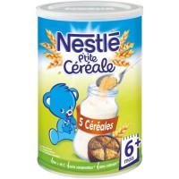 NESTLÉ P'tite Céréale 5 Céréales - 400 g - Des 6 mois