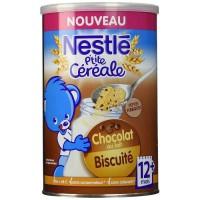 NESTLÉ P'tite céréale Chocolat au lait biscuité - 400 g - Des 12 mois