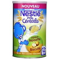 NESTLÉ P'tite céréale Saveur noisette biscuité - 400 g - Des 12 mois