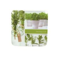 NOVASTYL Dessous de plat Herbarium carré - 19 cm - Mélamine - Vert