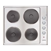 OCEANIC CTE4IX - Table de cuisson électrique - 4 foyers - L58xP51cm - Revetement inox - Coloris Inox