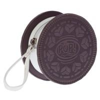OHMYPOP Portemonnaie Cookie - Marron et blanc