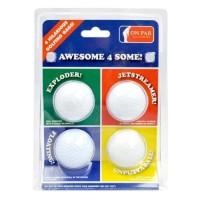 ON PAR Lot de 4 Balles de Golf - Blanc