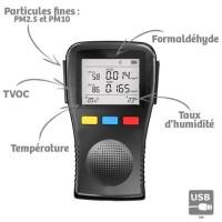 ORIUM Mesureur analyseur qualité de l'air Complet Portable - Référence 23625