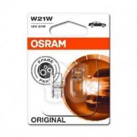 OSRAM Lot de 2 Lampes de signalisation halogene Original W21W