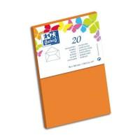 OXFORD 20 Enveloppes gommée - 14 cm x 9 cm x 1,5 cm - 120g - Orange