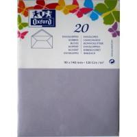 OXFORD 20 Enveloppes gommée - 14 cm x 9 cm x 1,5 cm - 120g - Parme