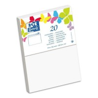 OXFORD 20 Enveloppes gommée - 16,2 cm x 11,4 cm x 1,5 cm - 120g - Blanc