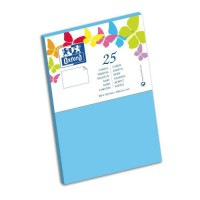 OXFORD 25 Cartes - 15 cm x 10 cm x 0,7 cm - 240g - Bleu Lagon