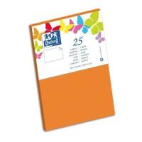 OXFORD 25 Cartes - 15 cm x 10 cm x 0,7 cm - 240g - Orange